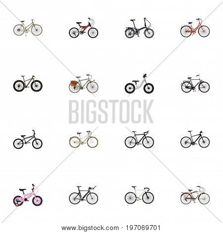 Realistic Road Velocity, For Girl, Extreme Biking And Other Vector Elements