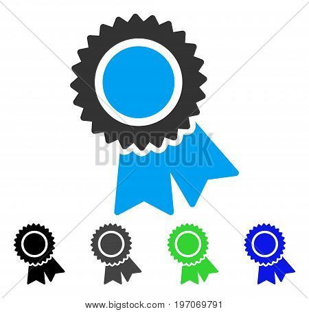 Certification flat vector pictograph. Colored certification gray, black, blue, green icon variants. Flat icon style for web design.