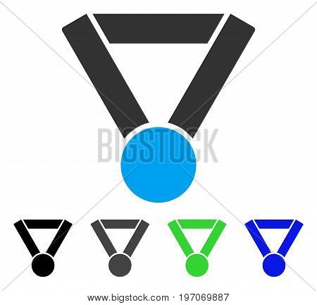 Champion Award flat vector pictograph. Colored champion award gray, black, blue, green icon versions. Flat icon style for web design.