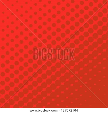 Halftone Dots on red Background. Halftone Effect. Vector Comic book background.