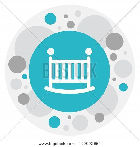 Vector Illustration Of Family Symbol On Baby Bed Icon