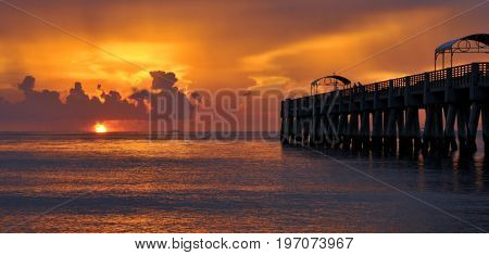 Lake Worth fishing pier and beach in Lake Worth, Florida