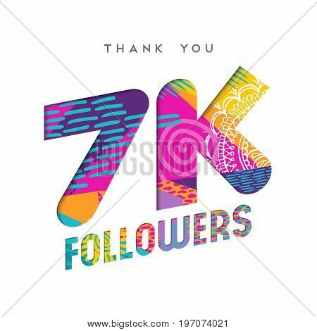 7K Social Media Follower Number Thank You Template
