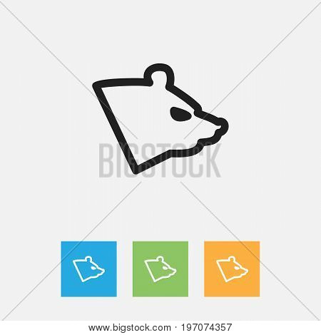 Vector Illustration Of Zoo Symbol On Grizzly Outline