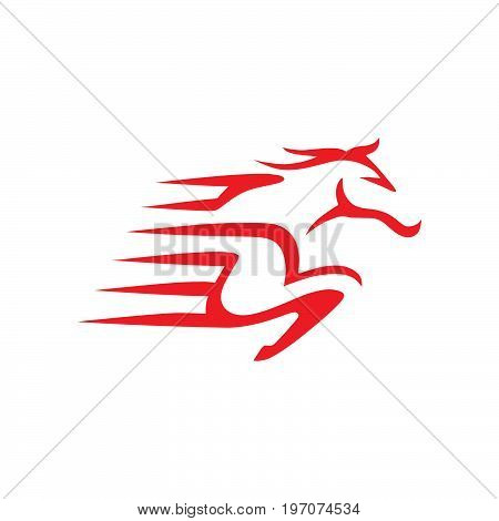 Horse delivery express for business logo template.