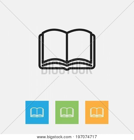 Vector Illustration Of Education Symbol On Textbook Outline