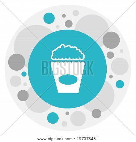 Vector Illustration Of Filming Symbol On Popcorn Icon