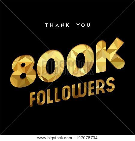 800K Gold Internet Follower Number Thank You Card