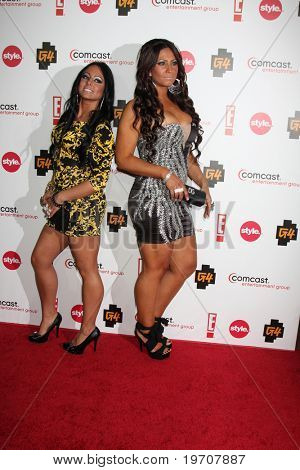 LOS ANGELES - AUGUST 6:  Olivia Bloise Sharp & Tracy DiMarco at the Comcast Entertainment Group Summer 2010 TCA Cocktail Party at Beverly Hilton Hotel on August 6, 2010 in Beverly Hills , CA