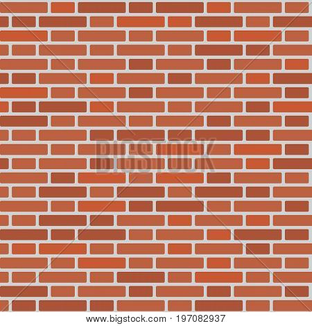 Seamless Pattern Of A Wall Of Red Bricks
