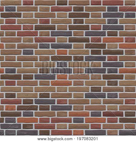 A Pattern Of Old Worn Brown Bricks