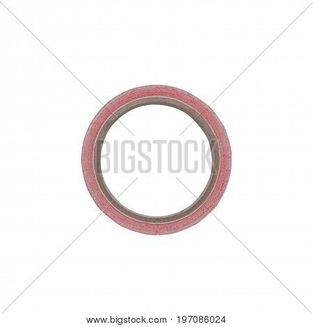 Top view of a roll of adhesive tape