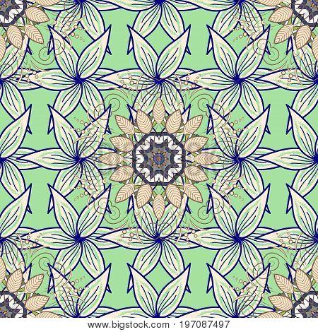 Organic motif background. Seamless pattern. Vector illustration. Ultrafashionable fabric pattern.