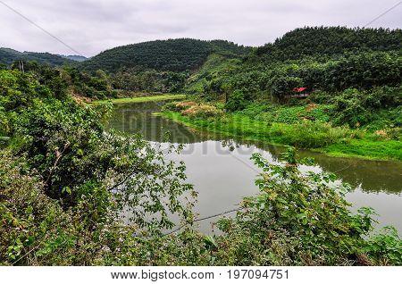 Riverside Landscape In Luang Nam Tha, Laos