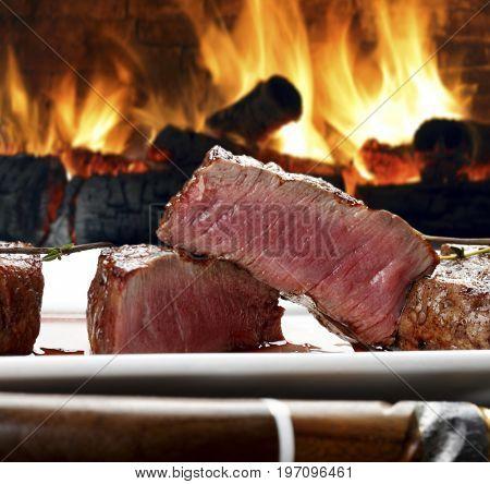 Bbq cut steak