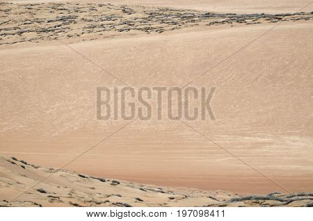 Natural background -- aerial view to the sands of the desert
