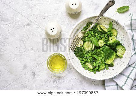 Green Vegetables Ragout.top View.