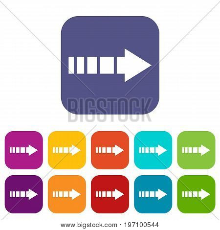Cursor icons set vector illustration in flat style in colors red, blue, green, and other