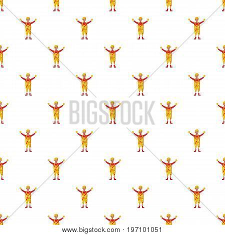 Clown pattern seamless repeat in cartoon style vector illustration