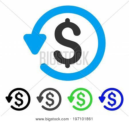 Refund flat vector icon. Colored refund gray, black, blue, green icon variants. Flat icon style for web design.