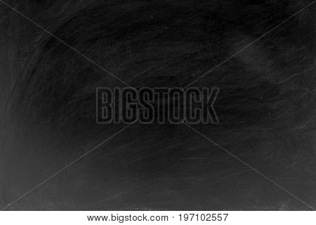 Blank Blackboard Background, Chalk Rubbed Out On Blackboard, Background For Graphic, Concept Educati