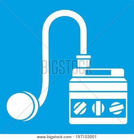 Detonator icon white isolated on blue background vector illustration