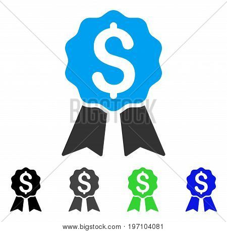 Banking Award flat vector pictogram. Colored banking award gray, black, blue, green pictogram variants. Flat icon style for web design.