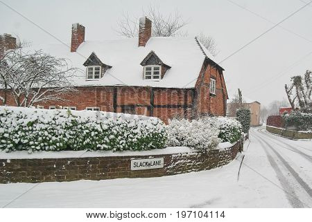 Unique old fashioned snow house in Birmingham