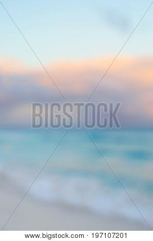 Defocused seascape at sunset - natural background