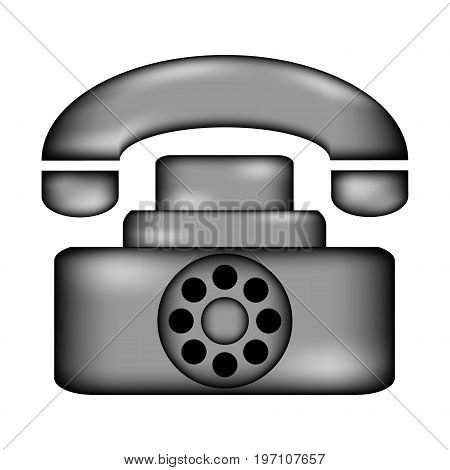 Phone icon sign on white background. Vector illustration.