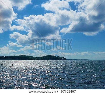 Sun and Clouds over the St. Lawrence River