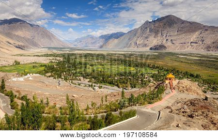 Nubra Vally in Ladakh region of Kashmir, India
