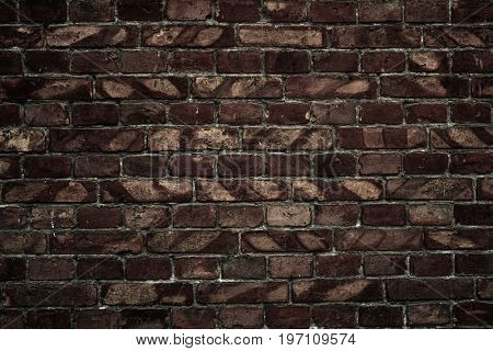 dark old brick wall for texture or background