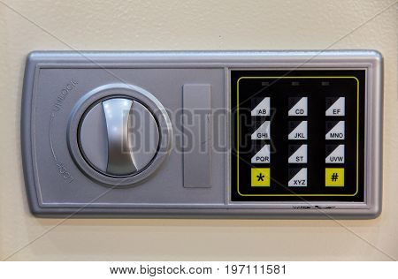 Numerical keypad of a home safety locker