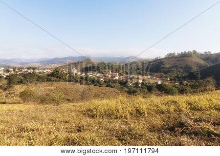 View of Vargem Bonita City in Minas Gerais Brazil Serra da Canastra Park