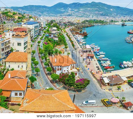 The Coastal Quarters Of Alanya