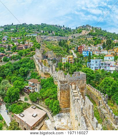 The View With The Ruins Of Alanya Fort