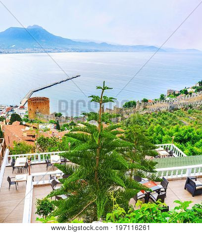 On Castle Hill Of Alanya