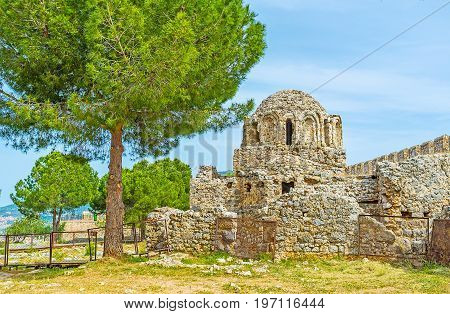 The Ruins Of Byzantine Church In Alanya