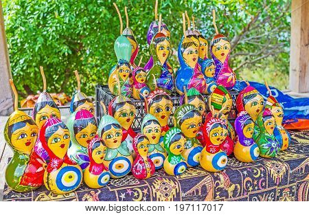 The Handmade Dolls In Alanya Market