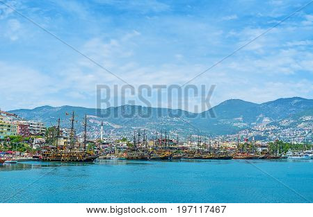 The Old Ships In Alanya