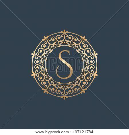 Vintage old style logo icon monogram. Letter S logo. Royal hotel, Premium boutique, Fashion logo, Super logo, VIP logo. S letter logo, Premium quality logo, Lawyer logo.S letter logo icon eps8,eps10
