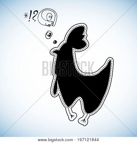 chicken cartoon hen animal cute illustration vector child bird egg