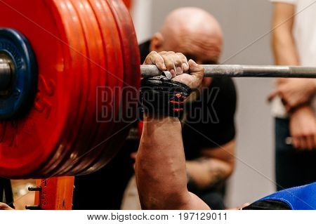 man athlete powerlifter competition powerlifting bench press