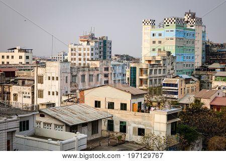 Buildings At Downtown In Mandalay, Myanmar