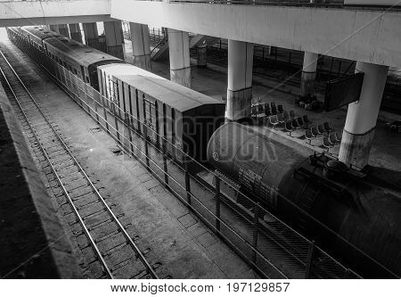 Inside Of Railway Station In Mandalay, Myanmar
