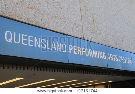 BRISBANE AUSTRALIA - JULY 8, 2017: Queensland Performing Arts Centre Brisbane. Queensland Performing Arts Centre Brisbane is part of the Queensland Cultural Centre located in Southbank.