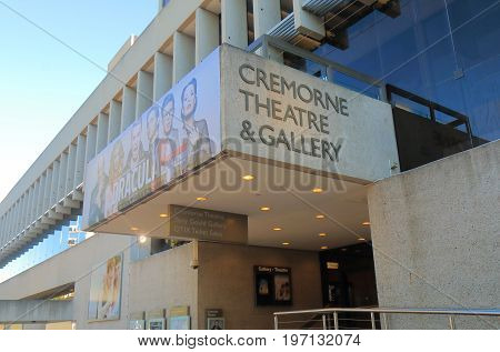 BRISBANE AUSTRALIA - JULY 8, 2017: Cremorne theatre gallery in Brisbane. Cremorne theatre retains its cultural significance from the first half of the 20th century as a theatre precinct.