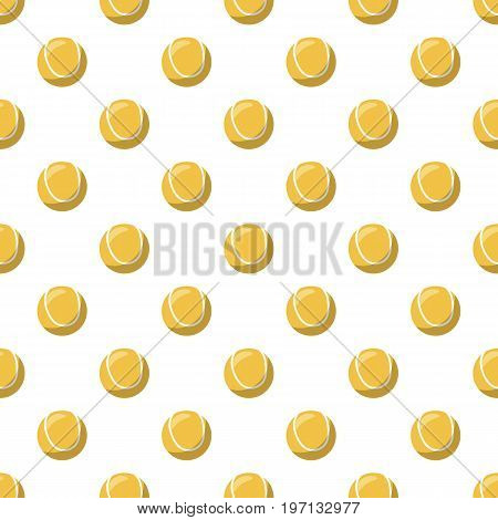 Tennis ball pattern seamless repeat in cartoon style vector illustration