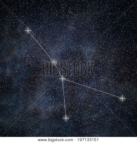 Cancer Constellation. Zodiac Sign Cancer Constellation Lines Galaxy Background